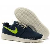 Nike Roshe Run pour Femme Dark Bleu Blanc Vert Roshe Run Solde Running Shoes