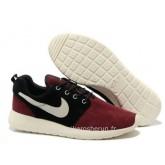 Nike Roshe Run pour Homme Dark Rouge Noir Blanc Basket Nike Roshe Run Nouvelle Chaussure