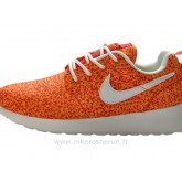 Nike Roshe Run Pattern Chaussure pour Femme Orange Solde Basket