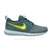 Nike Flyknit Roshe run Light Blue-Orange Nike Rosh Run Femme Chaussures De Basket