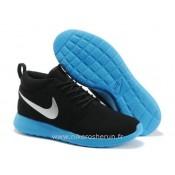 Chaussures Noir Metallic Nike Roshe Run Bleu Store Bastille