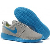 Nike Roshe Run pour Homme Grise Light Bleu Mesh Nike Roshe Run Daim Grossiste Chaussure