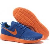 Chaussures Nike Roshe Run Mesh Homme Sombre Bleu Store France