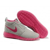 Nike Roshe Run Mid pour Femme Loup Gris Rose Nike Roshe Run Femme Basket Montant