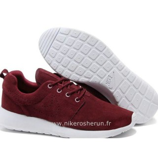 Nike Roshe Run pour Homme Dark Rouge Blanc Nike Roshe Run Grise Nouveau Crampon