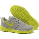 Nike Roshe Run pour Homme Grise Vert Mesh Nike Roshe Run Slip On Magasin Paris