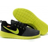 Nike Roshe Run pour Homme Noir Grise Vert Nike Roshe Run Soldes Nouveau Crampon