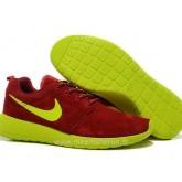 Chaussures Nike Roshe Run Femme Rouge Vert Brest Chaussure Requin