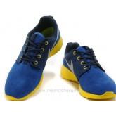 Chaussures Nike Roshe Run Suede Femme Bleu Jaune Rosh Run Elite Vintage