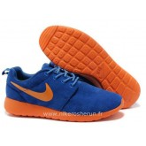 Chaussures Nike Roshe Run Homme Bleu Marine Orange Rosh Run Vetement De Sport