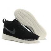 Nike Roshe Run Mid pour Femme Noir Cool Gris Roshe Run Blanche Court Tradition