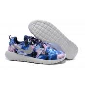 Chaussures Nike Roshe Run Mesh Couple Femme Sombre Roshe Run Bleu Nouveau Crampon