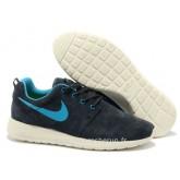 Chaussures Nike Roshe Run Homme Noir Bleu Blanc Roshe Run Bleu Chaussures Montantes