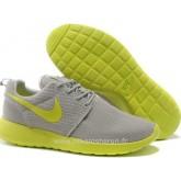 Nike Roshe Run pour Femme Grise Jaune Citron Mesh Roshe Run Courir Boutique Paris