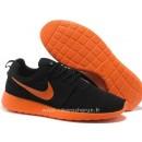 Nike Roshe Run pour Homme Noir Orange Neno Mesh Roshe Run Courir Boutique