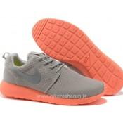 Chaussures Nike Roshe Run Mesh Homme Gray Orange Roshe Run Enfant Store Factory