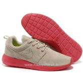 Chaussures Nike Roshe Run Homme Gris Clair Rouge Magasin Paris