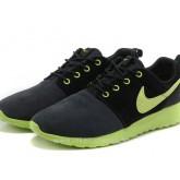 Chaussures Nike Roshe Run Femme Noir Vert Lyon Roshe Run Nike Chaussures De Basket