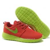 Chaussures Nike Roshe Run Mesh Femme Orange Vert Roshe Run Nike Chaussure Requin