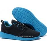 Chaussures Nike Roshe Run Homme Noir Bleu Brest Roshe Run Chaussures Futsal