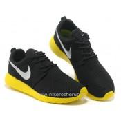 Chaussures Nike Roshe Run Mesh Femme Noir Jaune Roshe Run Running France