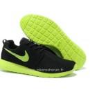 Nike Roshe Run Chaussure pour Homme Noir Vert Roshe Run Noir Solde Basket