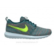 Nike Flyknit Roshe run Light Blue-Orange Roshe Run Rose Nouvelle Basket