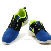 Chaussures Nike Roshe Run Suede Homme Noir DoderBleu Soldes