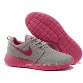 Nike Roshe Run pour Femme Grise Rose Mesh Roshe Run Rouge Recrutement France