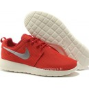 Chaussures Nike Roshe Run Mesh Couple Homme Rouge Roshe Run Supremo Magasin