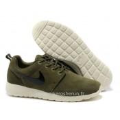 Chaussures Nike Roshe Run Homme Army Vert Blanc Roshe Run Supremo Boutique En Ligne